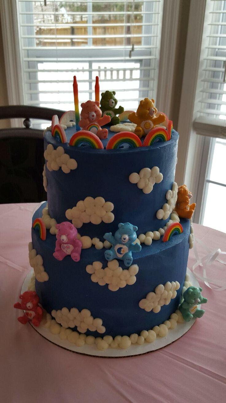 Evie's rainbow care bear cake - 2 year birthday party