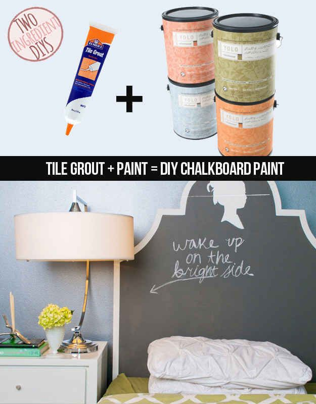 Make your own writeable chalkboard paint! It's easy!