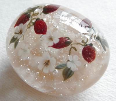 Borosilicate glass beads・パイレックスのとんぼ玉