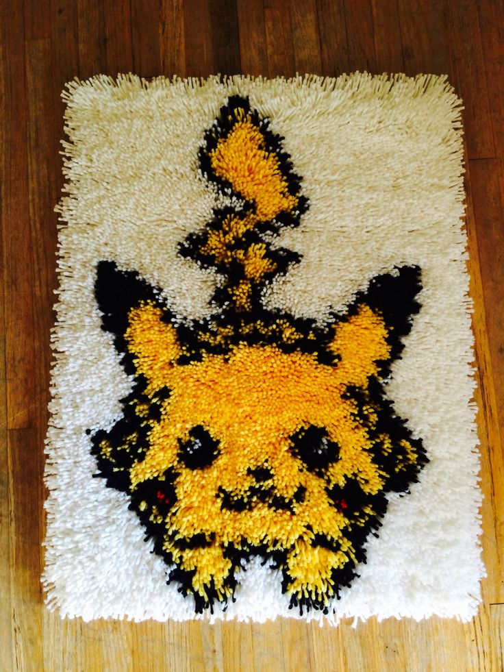 Pikachu Latch Hook Rug! Etsy!