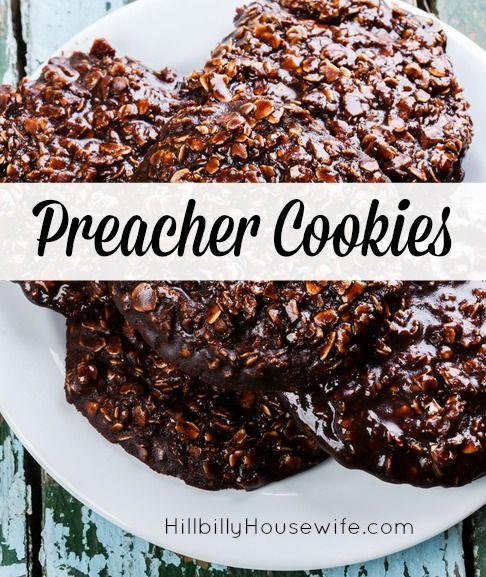 Quick And Easy Preacher Cookies. Old-fashioned oatmeal drop cookie. They are called preacher cookies because you could make them quickly if you saw the preacher come walking up the road.