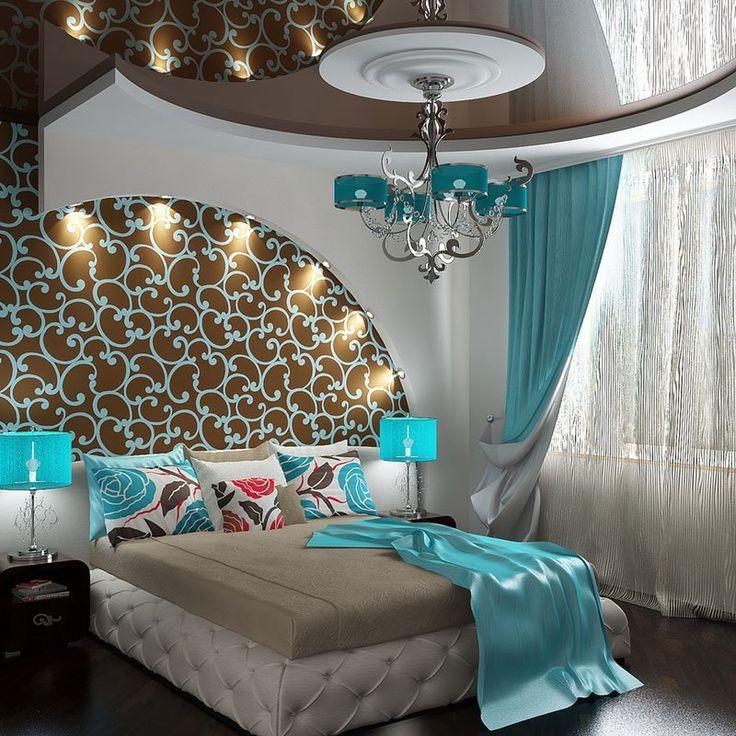Арка со светильниками и потолок в спальне. Точечные светильники в потолке, наверно, будут лишними