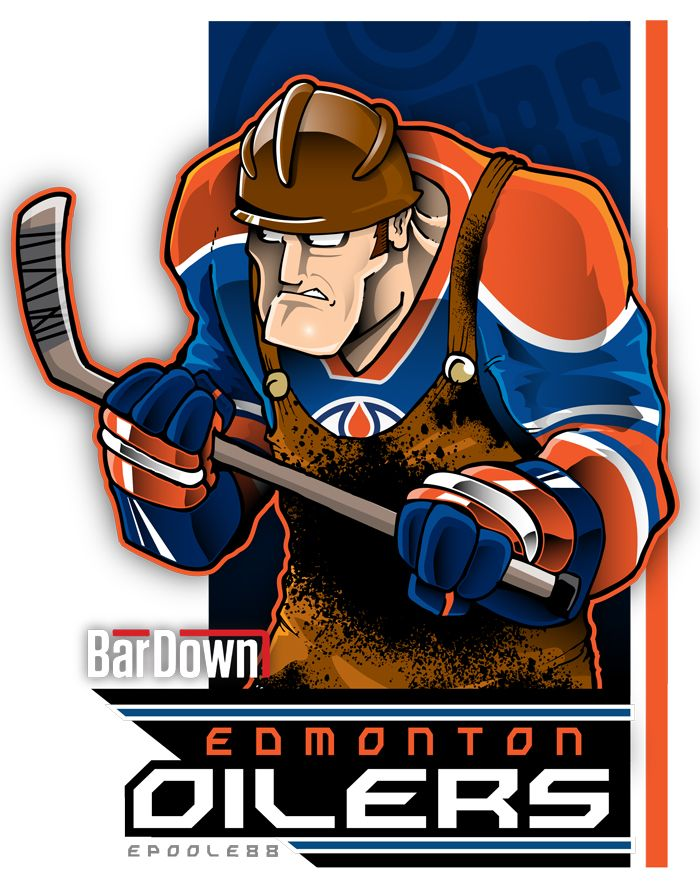 Eric Poole rendering of the Edmonton Oilers
