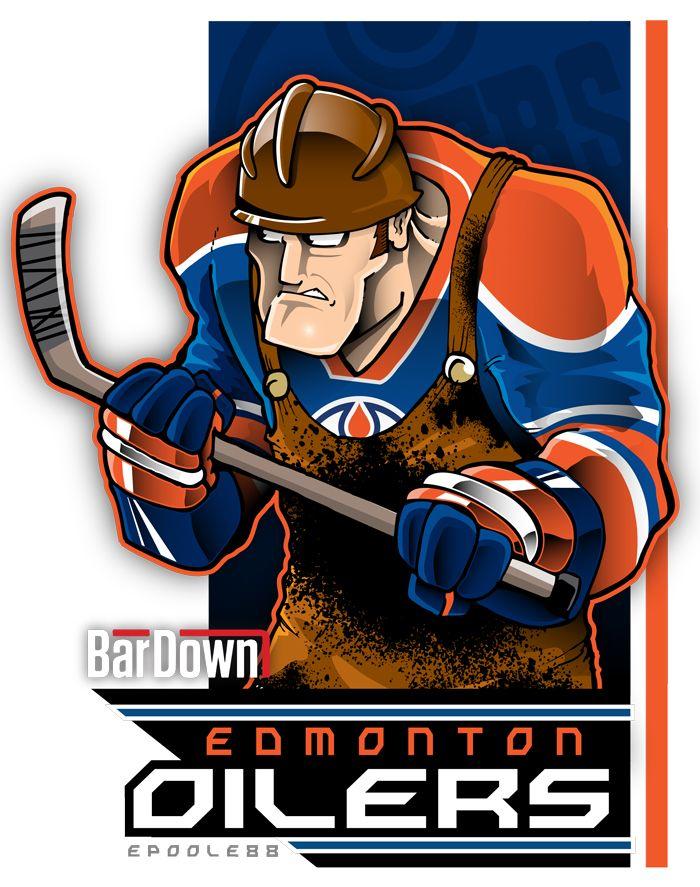 Eric Poole rendering of the Edmonton Oilers