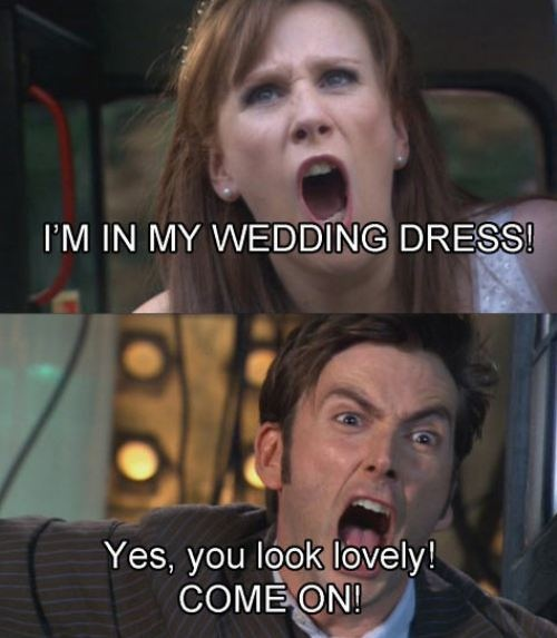 This basically sums up the doctor/Donna relationship