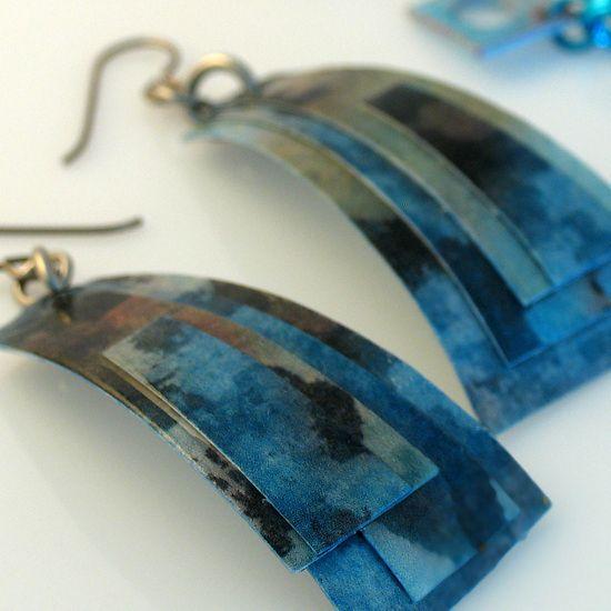 Paper Earrings by all things paper, via Flickr