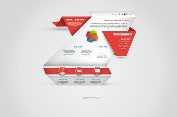 Photoshop Tutorial Web Design Origami