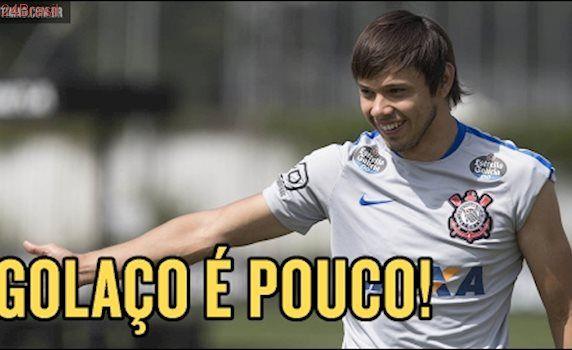 Golaço do Romero no treino do Corinthians