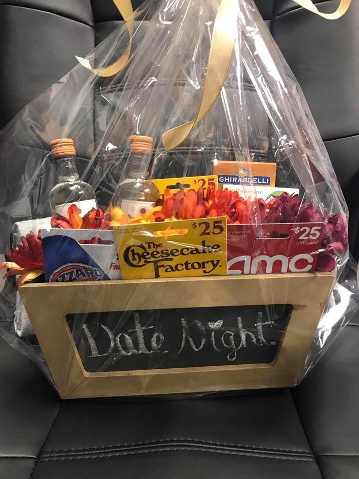 Date Night Basket Dinner Gift Cards Dessert Gift Card Movie Gift