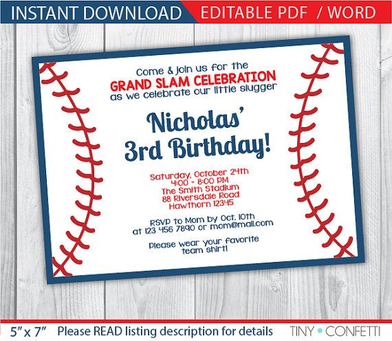Best 25 Baseball Party Invitations Ideas On Pinterest Baseball