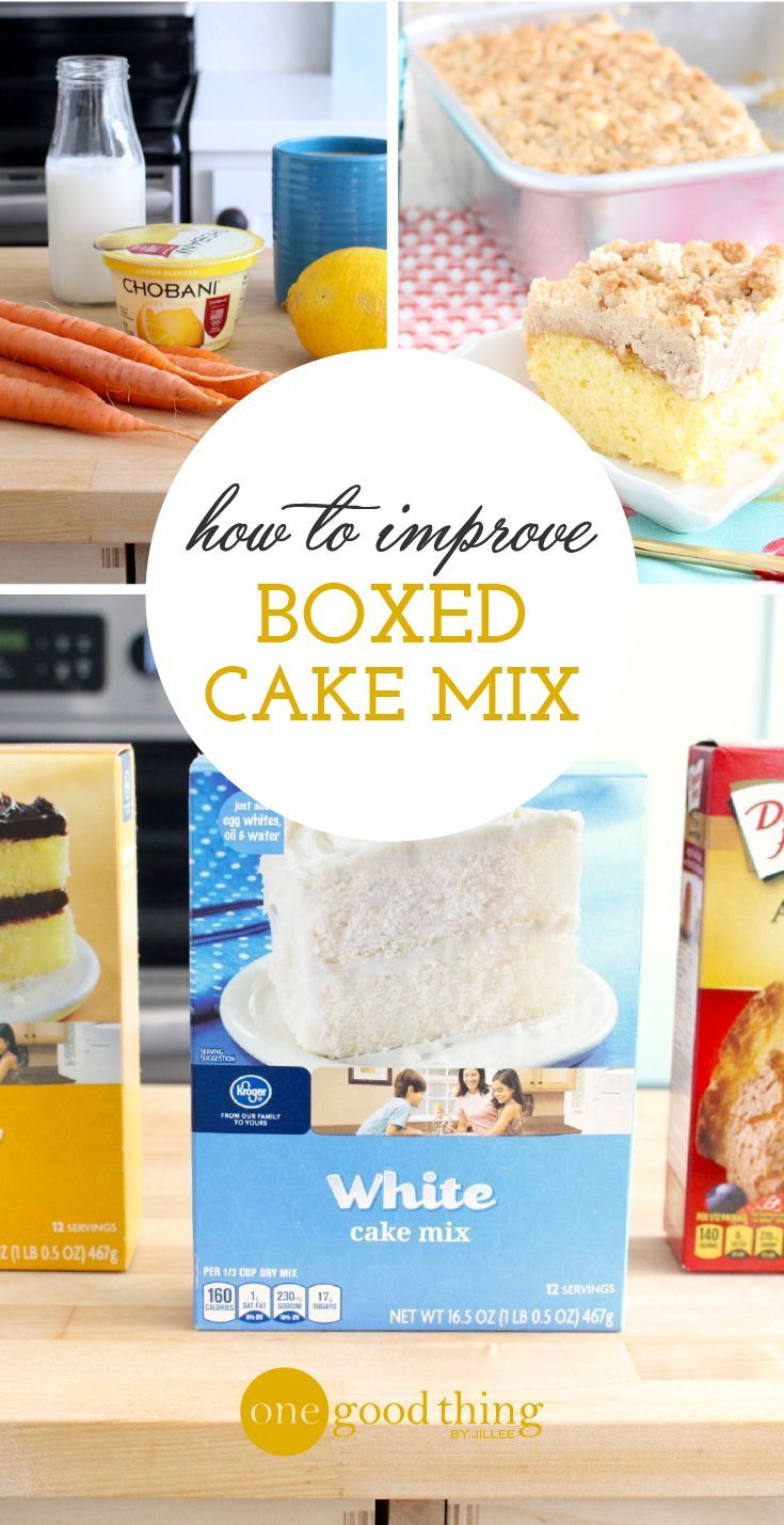 Amp up the flavor and texture of your favorite boxed cake mixes by making smart and simple substitutions. And you don't want to miss this Crumb Cake recipe!