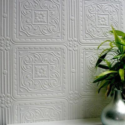 Anaglypta 57.5 sq. ft. Turner Tile Paintable Textured Vinyl Wallpaper-437-RD80000 - The Home Depot