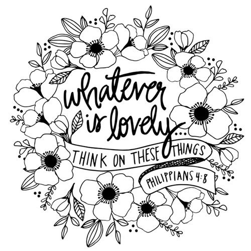Whatever Is Lovely - Philippians 4 8 | Coloring Canvas - Canvas On Demand