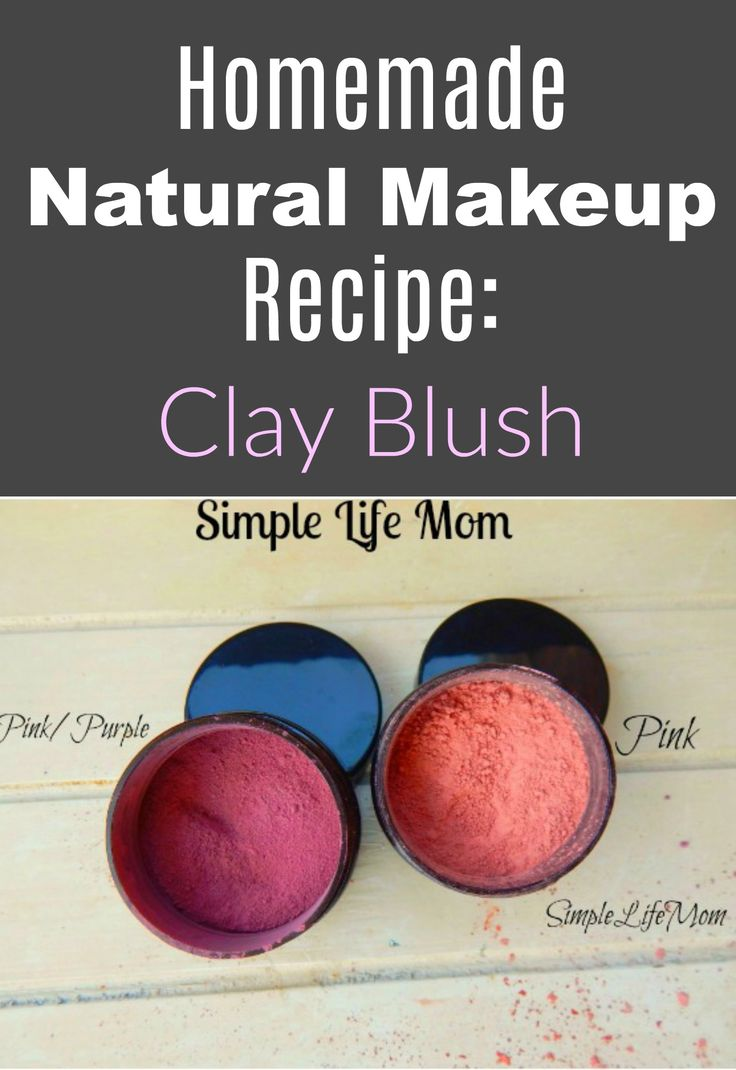 This homemade natural makeup recipe for a natural mineral clay blush recipe is perfect for those looking for organic, healthy alternatives. An easy DIY.