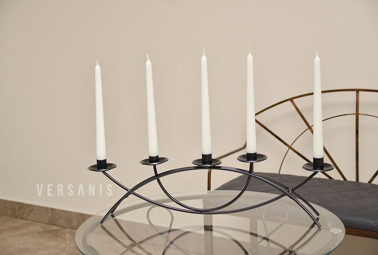 kerzenhalter metall 5 kerzen kerzenst nder kerzen kerzenhalter i st nder. Black Bedroom Furniture Sets. Home Design Ideas