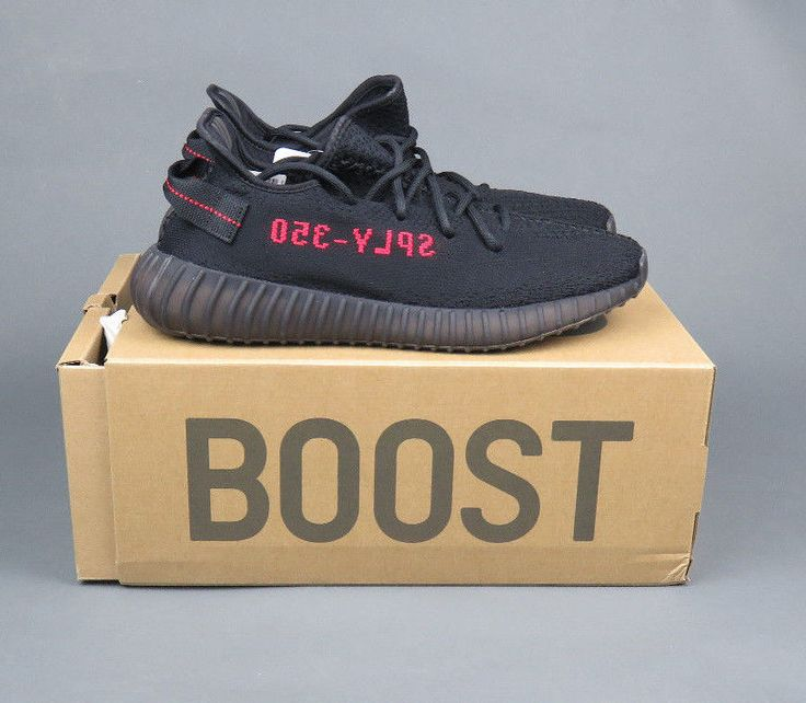 3658a02dd Adidas Yeezy Boost 350 v2 Infant Black Red BB6372 Infant Size 7K