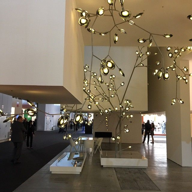 164 best modern chandeliers large contemporary light fixtures nerve like lighting by bocci at the euroluce in milan mozeypictures Choice Image