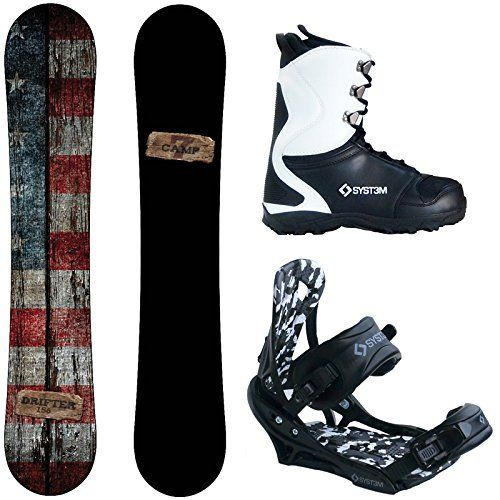 Camp Seven Drifter and APX Men's Complete Snowboard Package New (153 cm, Boot Size 11) – Snowboards