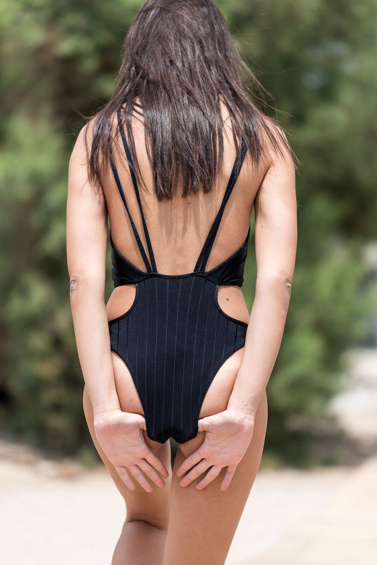 Swimwear , swimsuit , total black , bynadiarapti ss15