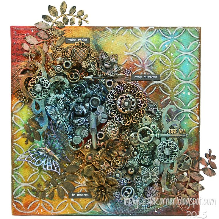 Happy Monday, everyone! Today's share for Mixed Media Monday is an 8x8 canvas that I made just for fun. I played with a few of my newest col...