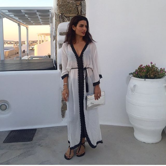 @follifollie #Ffislandhopping #ffsummerstyle #myfollifollie #mykonos @hotelbrain caftan and sandals by my darling @desp1navandi http:shop.despinavandi.gr