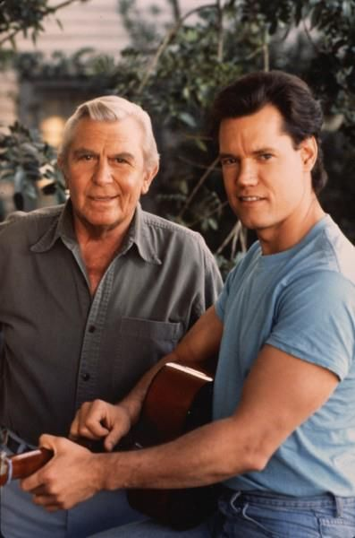 Andy Griffith and Randy Travis ~ Hey I remember this.  Episode of Matlock.  Watched all the reruns with my kids growing up.  Those were the days.  Story.  Randy needed help.  Painted his house, etc. to pay.  Of course sang.  Matlock got out an instrument too, I think.  Not much Andy Griffeth couldn't do.  And he stayed lifelong friends with his friends, most co-stars.  Don't make 'em like that anymore.