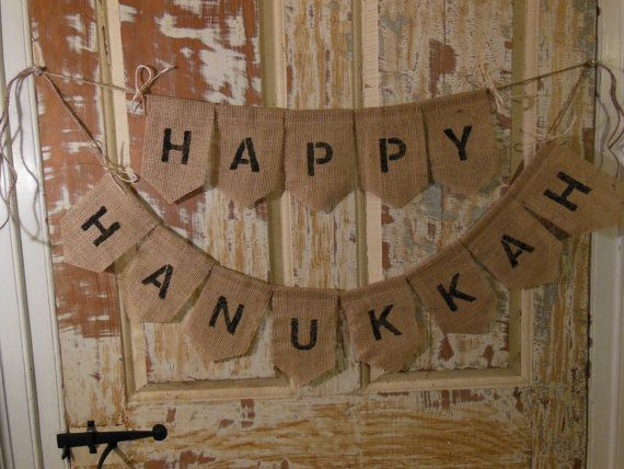 Hanukkah Banner Happy Hanukkah Bunting by IchabodsImagination, $25.00