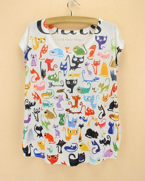 We LOVE this new addition to our collection! Light and airy, perfect for Spring! It is decorated with the cutest kitty cat doodles! Get yours for the introductory price of $12.99 and free shipping!! http://www.furrymcpurry.com/products/doodle-cats-ladies-t-shirts