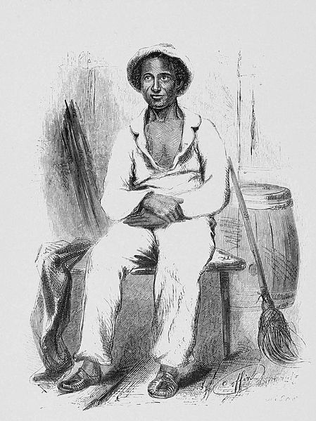 "Solomon Northup ~ (July 1808–1863?) an American and author of the memoir ""12 Years a Slave."" A free-born African American from New York, he was a farmer, violinist, and land owner in Hebron, New York. In 1841 he was kidnapped and enticed to Washington, D.C. (where slavery was legal). After his ordeal he became an active abolitionist, lectured on slavery throughout the northeastern US and aided fugitive slaves on the Underground Railroad. (link to electronic edition)"