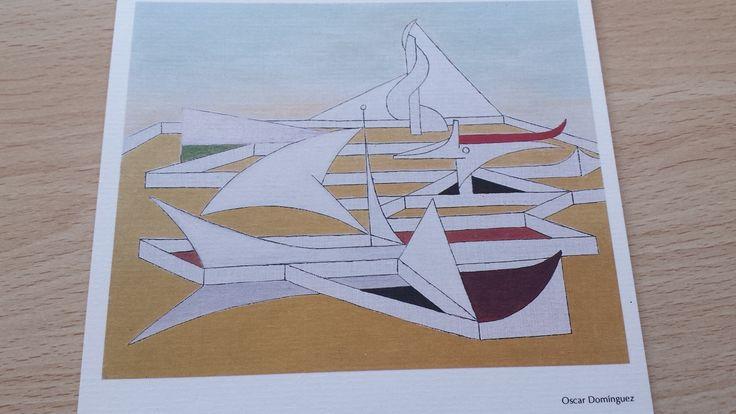 Lámina de Óscar Domínguez, pintor surrealista nacido en La Laguna, Tenerife, Islas Canarias