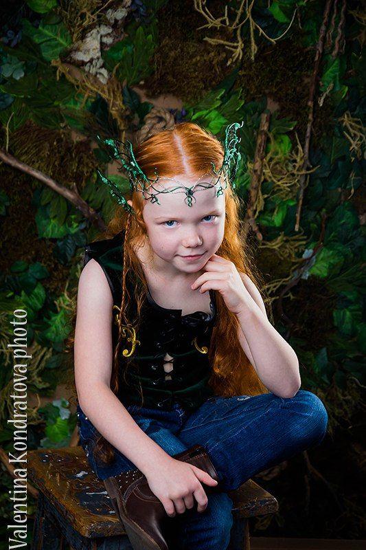 фотосессия, сказочный, лесной, эльф, корона, каффы, handmade, wire wrap