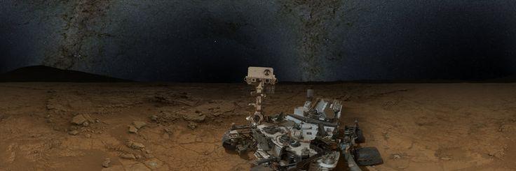 The World: Mars Panorama – Curiosity rover: Martian night