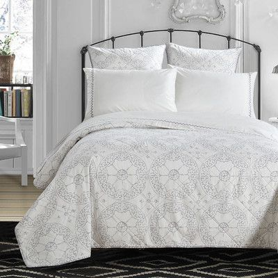 LUX-BED Grand Palace Embroidered 300 Thread Count 100% Cotton Sheet Set Size: Queen