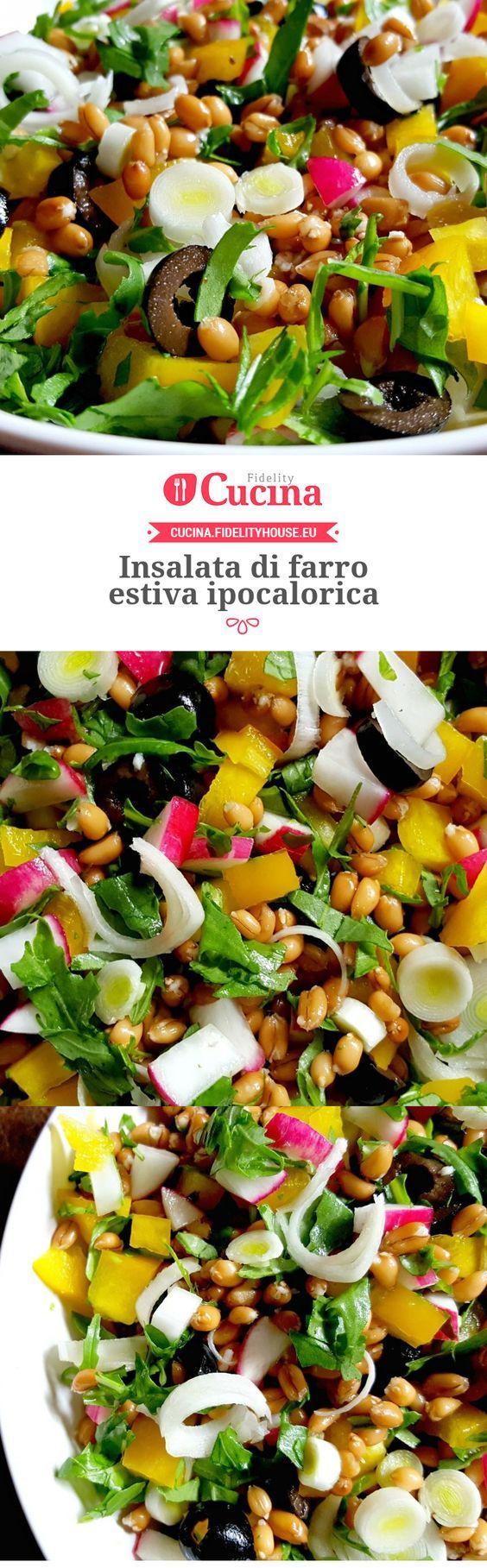 #Insalata di #farro estiva ipocalorica della nostra utente Monica. Unisciti alla nostra Community ed invia le tue ricette!
