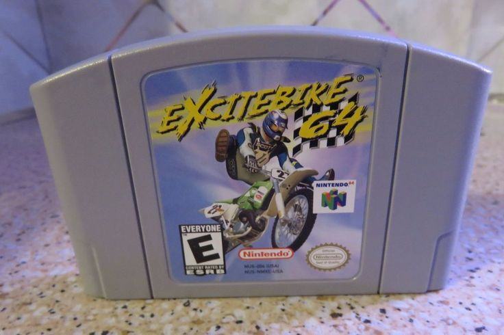 N64 Excitebike 64 (Nintendo 64, 2000) Game Cartridge Only Very Good Plus