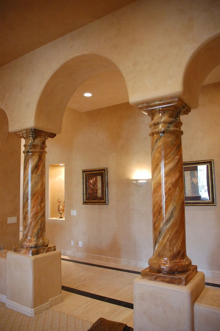 Painted Stone Pillars : Best images about arches columns on pinterest