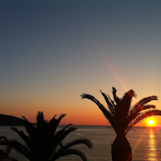 A dramatic photo taken by @tanneberithuse #Crete #summer #MinosPalace #sunset