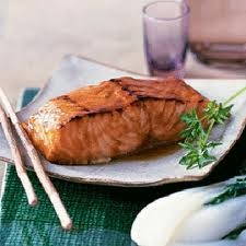 come on by facebook page and LIKE-Get Girly Tips and Tricks and Recipes      Pineapple and Soy Glazed Salmon     1 1/4 cups pineapple juice   2 tablespoons low-sodium soy sauce   1/4 cups dry sherry   1 teaspoons light brown sugar   2 tablespoons miso   4 (6-ounce) skinless salmon fillets   1/4 teaspoons fresh-ground black pepper       Directions   1.Marinate the salmon: In a medium saucepan over high heat, cook the pineapple juice, soy sauce, and sherry for 20 minutes. Stir in the brown…