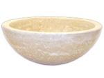 Eden Bath Small Vessel Sink Bowl - Honed Beige Travertine - EB_S003BTH    bathroomvesselsinks.com