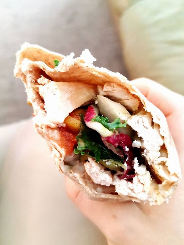 whole wheat turkey wrap.  organic turkey, purple lettuce, mayo, and kale. yum yum... right from your northern table.