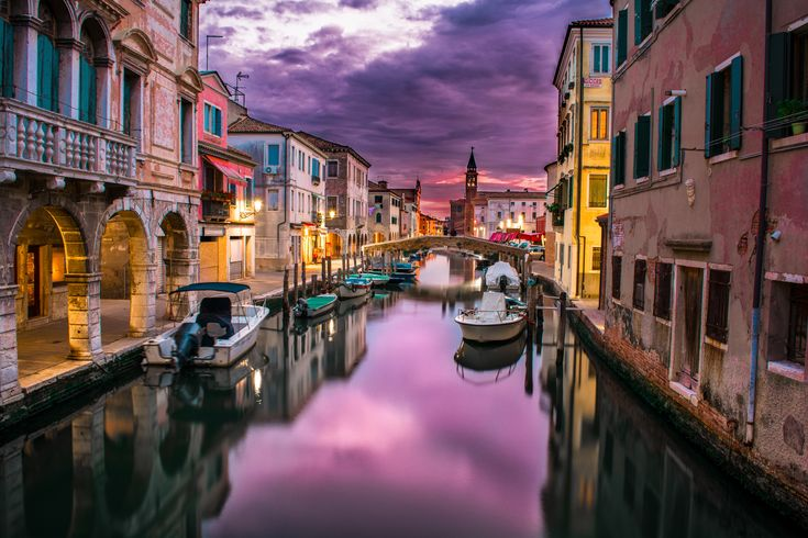 Beautiful romantic view of a canal in Venice.