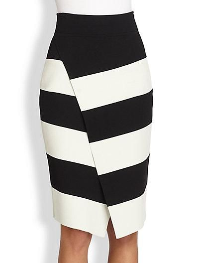 ALC Campbell Striped Skirt / Saks