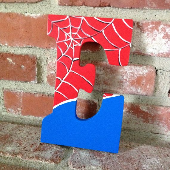 Hand Painted Superhero Letters - for hanging on Etsy, $18.00