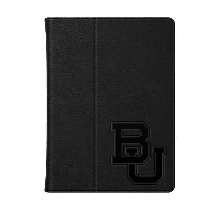Baylor University Black Leather Embossed iPad Folio, Classic- iPad Air