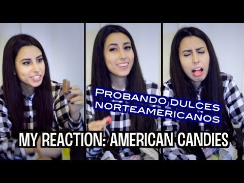 Pruebo DULCES GRINGOS ♥ (Reacción)   Chilean tries USA candies