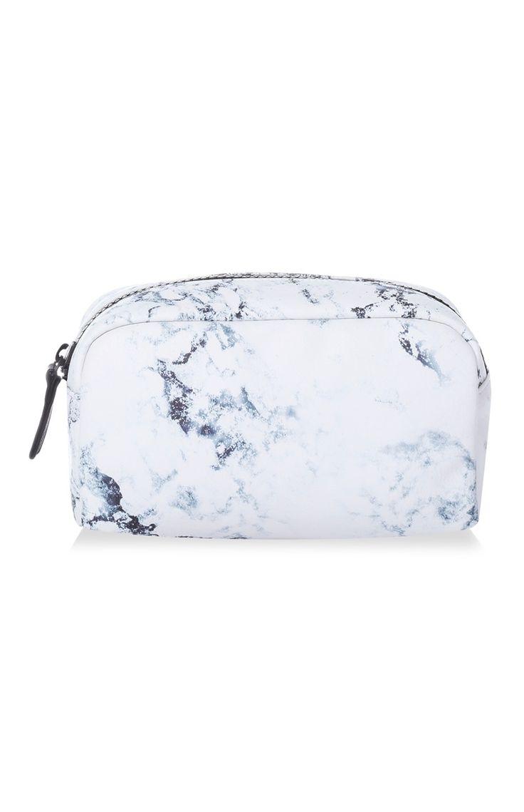 Bolsa de maquilhagem estampado mármore