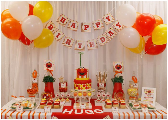 7 best Red Orange Elmo Birthday Party images on Pinterest 1st