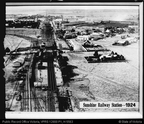 AERIAL VIEW OF SUNSHINE STATION 1924 - Public Record Office Victoria