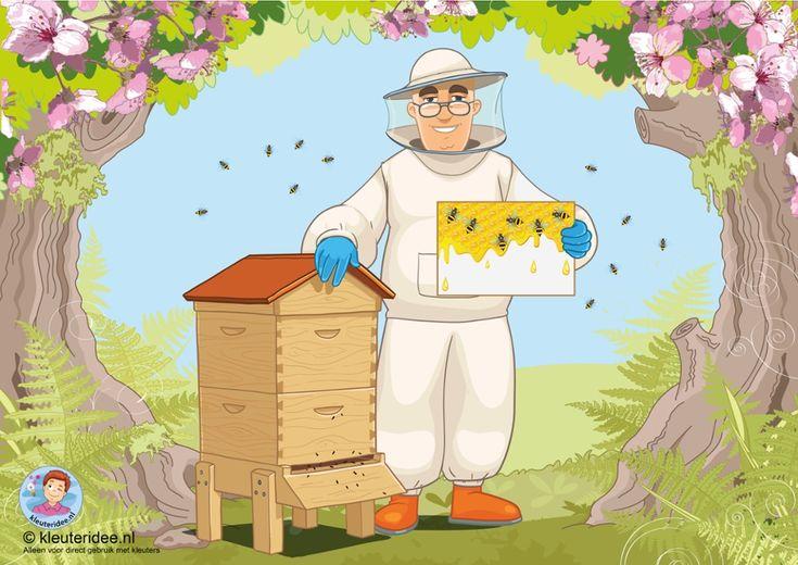 TOUCH this image: Interactieve praatplaat thema bijen, kleuteridee.nl by juf…