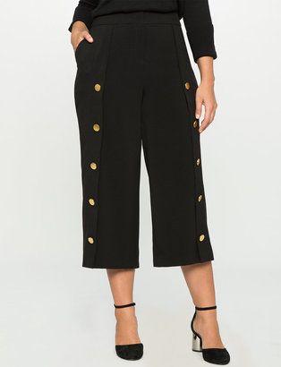 Shop Now - >  https://api.shopstyle.com/action/apiVisitRetailer?id=613891004&pid=2254&pid=uid6996-25233114-59 Plus Size Wide Leg Button Culottes  ...